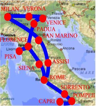 Italy travel agent Milan Pompeii 14 Days package tour