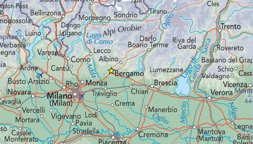 Italy travel deals North Lakes Tour – Northern Italy Map Tourist